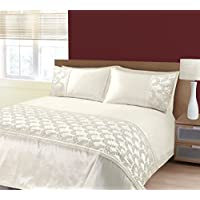 e7d821cf20 K LIVING Zara Cream Embroidery Sequins Duvet Cover Bedding Set - Size  King