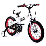 R BABY 16″ BUTTONS GIRLS FREESTYLE BMX KIDS BIKES WITH HEAVY DUTY REMOVABLE STABILISERS. (WHITE FRAME-ROSY RIM, BUTTON-16)