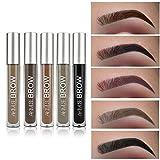 Augenbraue-Gel, 9 Farben Semi-permanente wasserdichte flüssige Augenbrauen-Färbungs-Creme mit Bürste von Pretty Comy