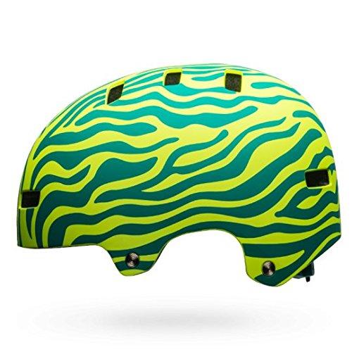 Bell Unisex Jugend Span Fahrradhelm, m Emerald/Retina sear Zebra, XS