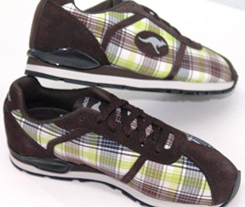 Freizeit Turnschuhe/Sneakers Kangaroos Oldschool in 2 Farben Größe: 37 Karo-Braun