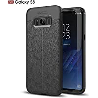 Shinyzone Weich TPU Silikon Zurück Hülle für Samsung Galaxy S8,Ultra Dünn Flexibel [Schwarz] Litschi Textur Muster... preisvergleich bei billige-tabletten.eu