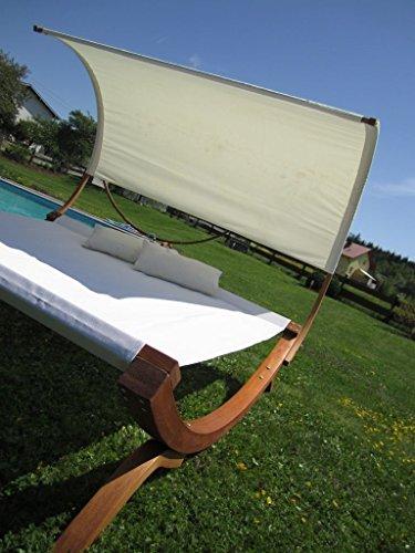 XXL Sonnenliege Doppelliege Gartenliege Hängematte Doppel Liege Gartenmöbel extrabreit für 2 Personen Modell SAONA von AS-S - 9