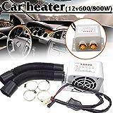 Appareil de chauffage portatif automatique 12V d'appareil de chauffage de voiture Appareil de chauffage de vitre de dégivreur de vitre d voiture 600W / 800W pour le dessiccateur chaud d'automne de