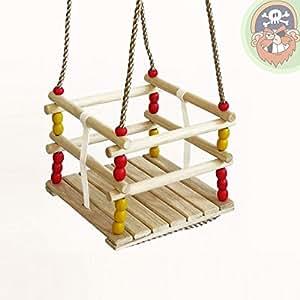 Altalena griglia dondolo altalena per bambini in legno for Altalena amazon