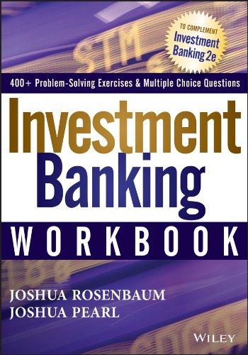 Investment Banking Workbook (Wiley Finance) por Joshua Rosenbaum