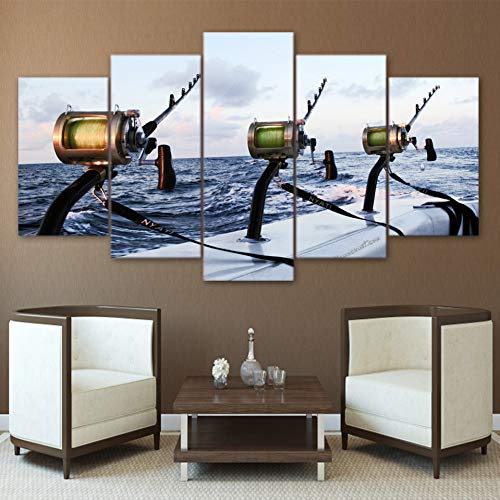 Fly Fishing Rod Outils Pêche Sport Wall Art Poster Grand format A0 Large Print