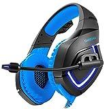 Cywulin casque PC Gaming pour PS4stéréo de 3,5mm USB LED casque Réducteur de...