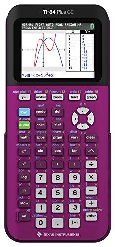 Texas Instruments TI-84 Plus CE - Calcolatrice grafica, colore: Prugna