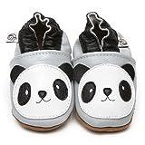 Suaves Zapatos De Cuero Del Bebé Panda 12-18 meses