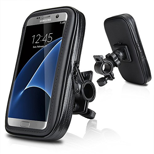 "EUGO Impermeabile e Cellulare Custodia per Moto,Wotek 5,5""--6,2"" Universale Supporto Cellulare Impermeabile Custodia, Borsa, Borsetta per Bicicletta / Bici per iPhone 7 Plus,Samsung Galaxy S8 Plus/S8/A7 (2017)/J7 Prime,Huawei P10 Plus/Honor 8 Pro/Honor 6X/Mate 9"