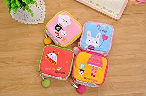 Efbock Girl's Cute Cartoon Cotton Tampon Sanitary Pad Holder Bag 2pcs