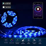 Tira LED Wifi Funciona con Alexa, 10m SMD5050 Inteligente Impermeable RGB Tira Luz Cinta LED, Google Home, ifttt, WiFi Wireless Smart Phone teledirigido LED Strip Full Kit