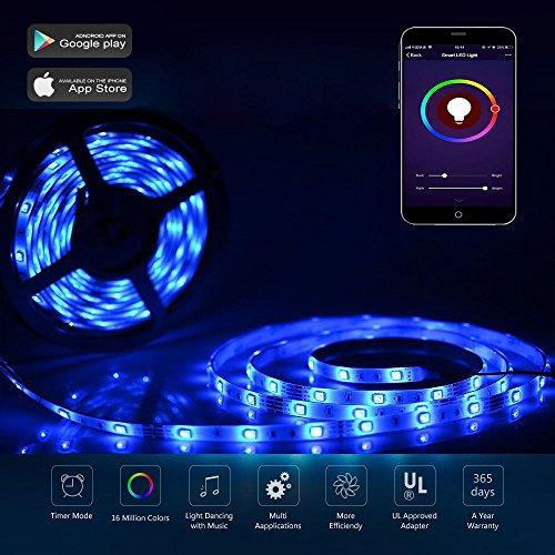 Tira LED RGB de 10 metros compatible con Alexa y conexion Wi-Fi marca CORST