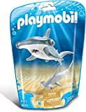 Playmobil-9065 Tiburón Martillo y Bebé, Gris, Color Blanco (9065)