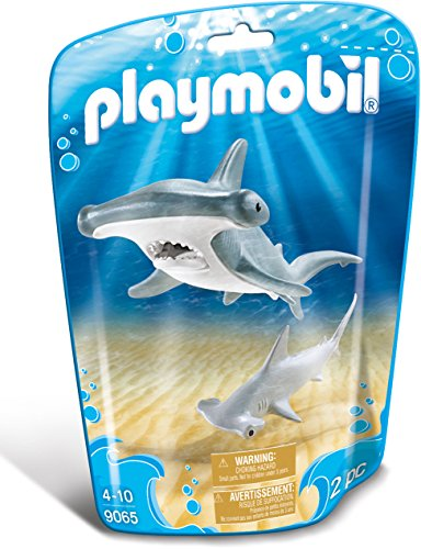 Playmobil-9065 Tiburón Martillo y Bebé, Gris, Color Blanco (9065