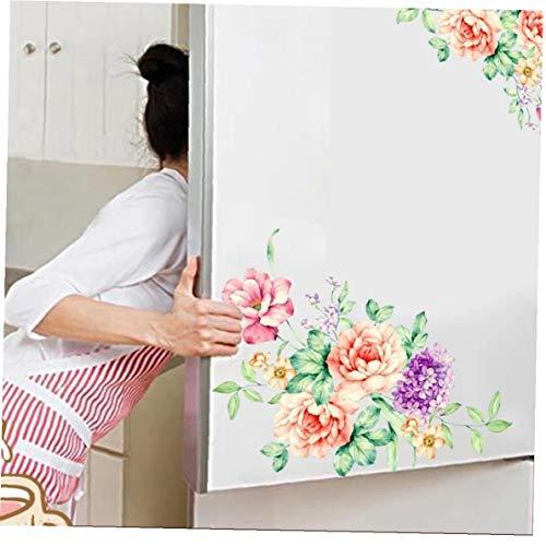 Ruluti 1PC Flores Coloridas 3D PVC Engomadas De La