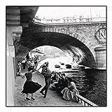 Rock'n Roll Sur les Quais De Paris - Seine Ufer - Kunstdruck (30cm x 30cm)