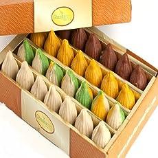 Ghasitaram Gifts Sweets Ganesha Chaturthi Gifts Modaks Pure Kaju Assorted Modaks 400 gms