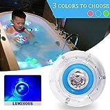 CHL Baby LED Luce Sette Colori Bagno Luminoso Giocattolo Galleggiante, Luce Notturna Acqua per Bambini 9 * 9 * 5.5 cm
