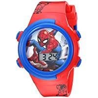 Marvel Boys' Quartz Watch with Plastic Strap, red, 16.5 (Model: SPD4480