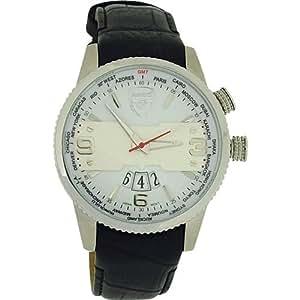 Arsenal F.C. GA4446–Watch, Leather Strap Black