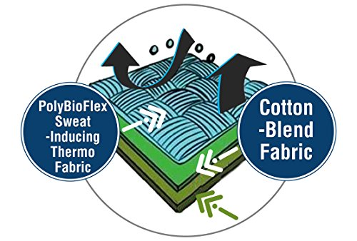 BioSweats Anti-Zellulite-Trainingshose - Hose (Damen) Für 70% schnelleren Gewichtsverlust. Ultimativer Taillentrainer, Eingebauter Schwitzgürtel, Einschließlich eBOOK! Black/Dark Gray/With Drawstring