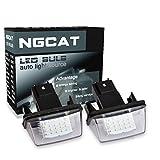 NGCAT 1 par de luces LED para matrícula Luz de la placa del auto