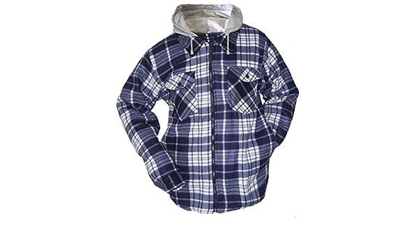 Bekleidung & Schutzausrüstung XL Fleecehemdjacke blau-kariert Gr