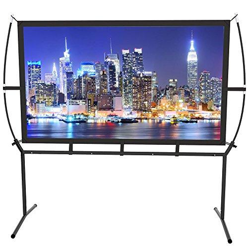 Screen Home Cinema 233 x 139 cm (100 Zoll) 16: 9 Mobile Projektor-Leinwand, einfache Installation und Bedienung, geeignet für Heimkino und Outdoor-Projektions-Leinwand