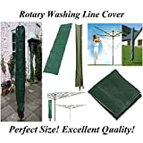 PMS 148 cm x 30 cm Rotary Washing Line Abdeckung Grün Kleidung Schützen Airer Trockner Wasserdichte Sonnenschirm Garten Abdeckung