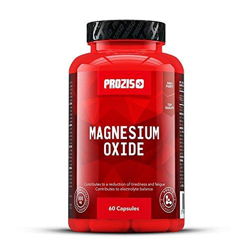 Des Trainings Unterstützung (Prozis Magnesium Oxide 800mg 60 Capsules - Nahrungsergänzungsmittel zur Reduzierung von Erschöpfungszuständen, Unterstützung der Normalen Funktion von Psyche und Muskeln - 30 Portionen)