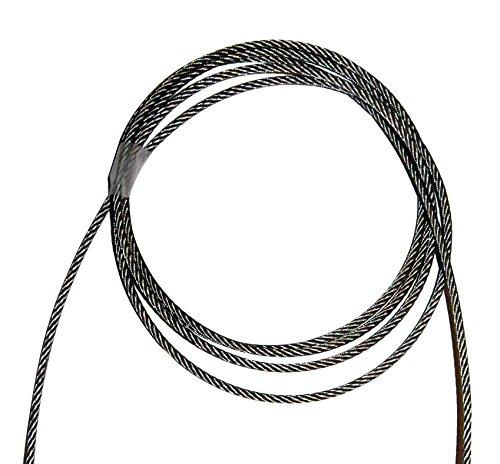 Câble acier inoxydable de 4 mm 25 mt pour trajectoire piscine course 49 fil - 24/5000 Stainless Steel Lane Pool Cable