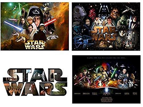 Set 4 tovagliette plastificate star wars (3° versione)
