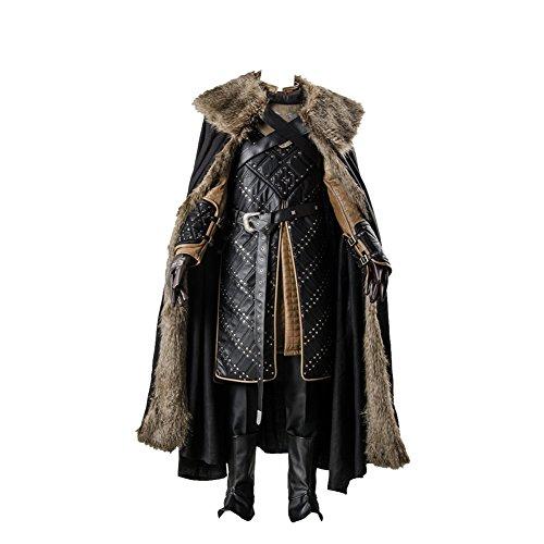 Rüstung Kostüm - GoT 7 Game of Thrones Season 7 Jon Snow Outfit Cosplay Kostüm Herren XL