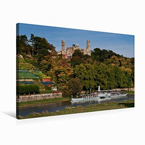 Leinwand Schloss Eckberg, Dresden 75x50cm, Special-Edition Wandbild, Bild auf Keilrahmen, Fertigbild auf hochwertigem Textil, Leinwanddruck, kein Poster