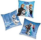 Herding Coussin Disney pour enfants, Marvel Barbie (la Reine des Neiges, Frozen, Spiderman, Mia and Me, dragons 40 x 40 cm)