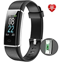 YAMAY Fitness Tracker,Color Screen Activity Tracker Fitness Watch with Heart Rate Monitor,Waterproof IP68 Waterproof Pedometer Step Counter Watch and Sleep Monitor Calorie Counter Watch for Women Men