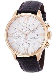 Tissot Herren-Armbanduhr 44mm Armband Leder Braun Gehäuse Edelstahl Automatik Chronograph T0994273603800