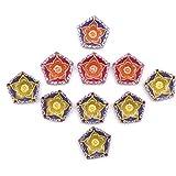 GiftsbyMeeta Diya For Decoration | Diya For Puja | Diya Holder Decorative | Diya Lamps For Pooja | Diwali Gifts And Decoration(Set Of 10 Handmade Diya)