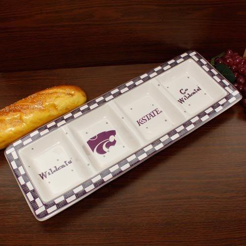 Memory Company NCAA Kansas State University Game Day Relish Tray, One Size, Multicolor Keramik Relish Tray