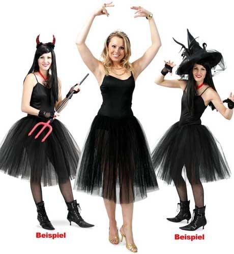 Ballerina Kleid schwarz Unisex M - (Kostüme Accessoires Teufel)