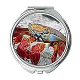 Yanteng Spiegel, Taschenspiegel, Wasser Strand bunt, Taschenspiegel, tragbarer Spiegel