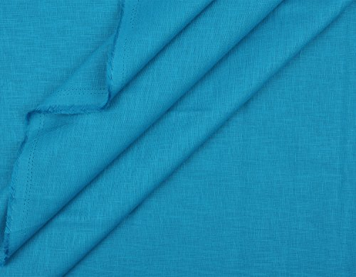 Cotts Hub Men's Cotton Linen Blended Shirt Fabric (Egyptian Blue)  available at amazon for Rs.399