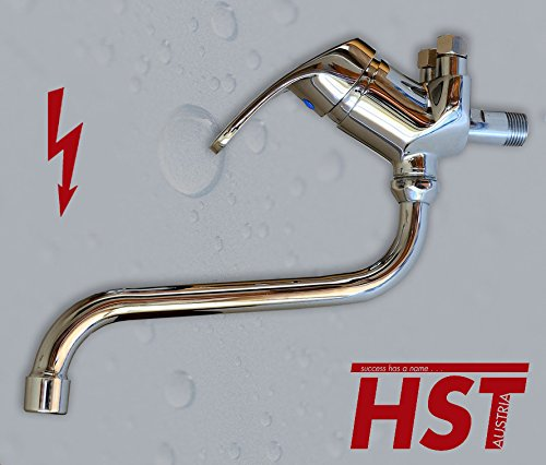 Wand Niederdruck Spültish Küchenarmatur Einhebelmischer Wasserhahn HSTA10 (25 cm Auslauflänge) (inkl Set)
