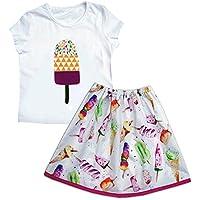 Girls Ice Cream Skirt and Top Set