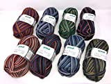 Torino Sockenwolle Paket Gründl 8 fädig, 8X 100g, 8 Fach Dicke Sockenwolle