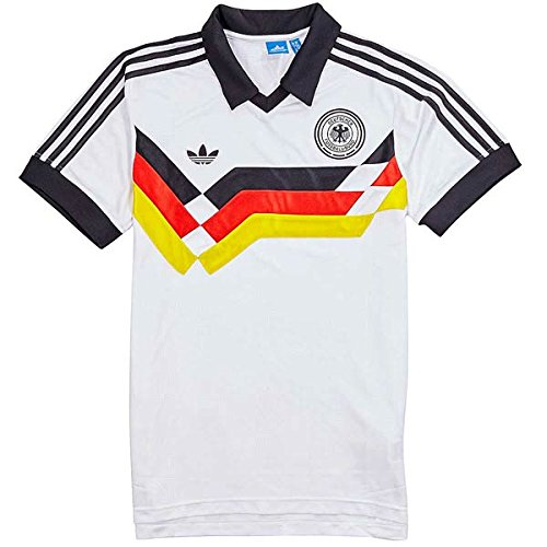 Adidas T-Shirt Men Germany Home Jr AJ8021 Weiß, Größe:M (Trikot Home Retro)