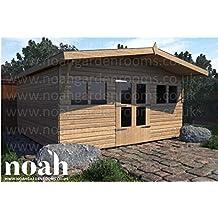 Noah - Cobertizo de jardín de Madera, 8 x 8 cm, Resistente, para