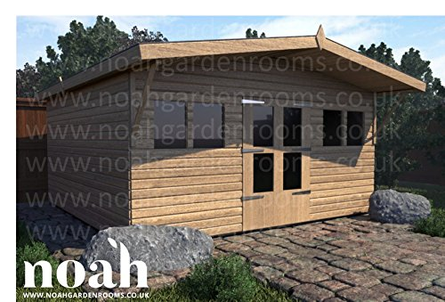 Noah - Cobertizo de jardín de Madera, 8 x 8 cm, Resistente, para Taller, Garaje